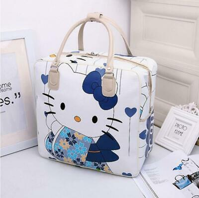Women's Hello Kitty Pu Leather Handbag Travel Luggage Bag Large Capacity Tote