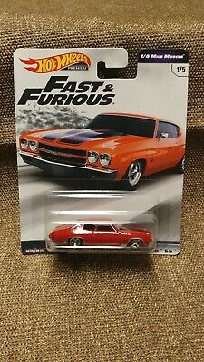 Hot Wheels 2019 Fast & Furious 1/4 Mile Muscle 1970 Chevrolet Chevelle Ss