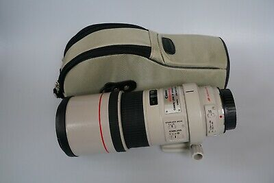 Canon EF 300mm f/4 L IS USM Lens telephoto used great!