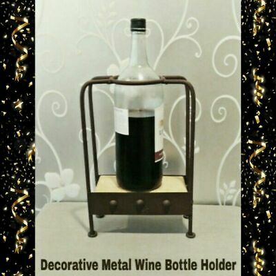 Decorative Steampunk Style Metal Wine Bottle Holder