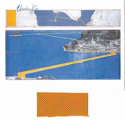 Christo and Jeanne Claude - pk Floating piers- hand signed stof