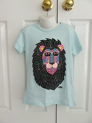 Brand New With Tags Top Tshirt Cotton On Lion Size 8 Boys Blue