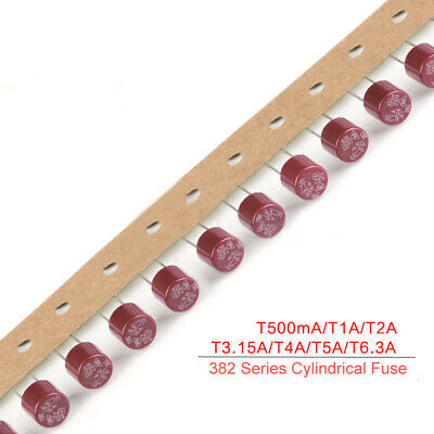 250V Slow Break T500mA T1A T2A T3.15A T4A T5A T6.3A 382 Series Cylindrical Fuse