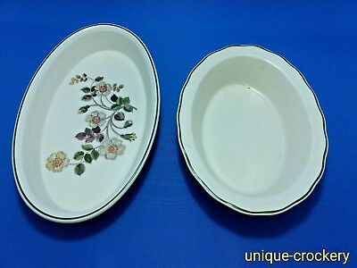 Marks and Spencer autumn Leaves Fluted Flan Dish and Oval Serving / Veg Dish