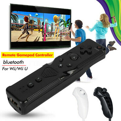 2in1Motion Plus Remote Nunchuck Controller Silicon Case Strap For Wii U Console