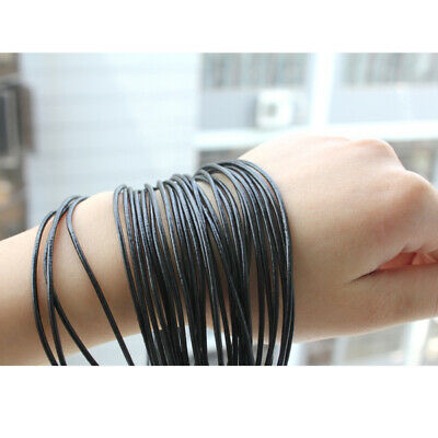 10m 1.5mm Genuine Leather Cord Thread For Diy Bracelet Necklace Jewelry  FMQ