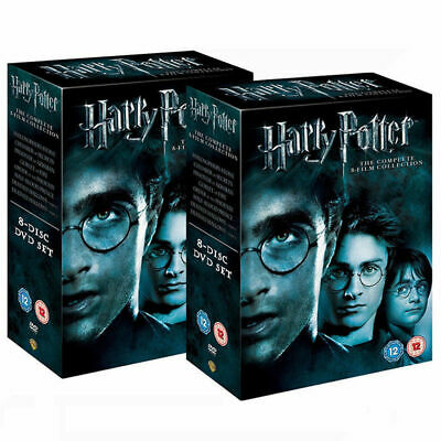 Harry Potter 1-8 Complete UK DVD Collection Films New & Box Set Free Postage