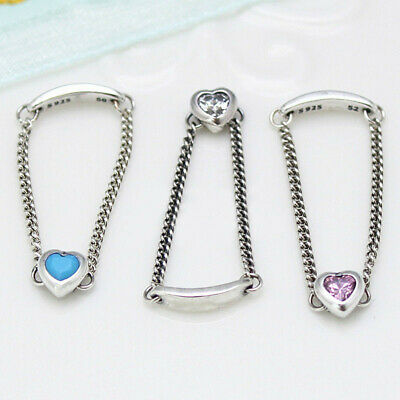 59f4bc773 Authentic 100% 925 Sterling Silver Spirited Heart CZ Ring 3 Color Size 5 6 7