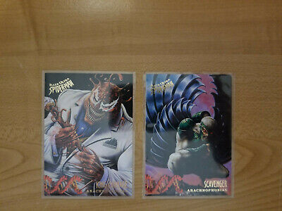 1995 Fleer Ultra Spiderman Arachnophobias Lot of 2 Trading Cards