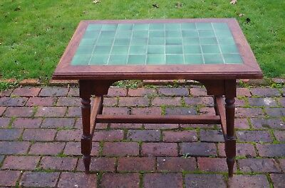 Antique Oak Table With Tiled Top