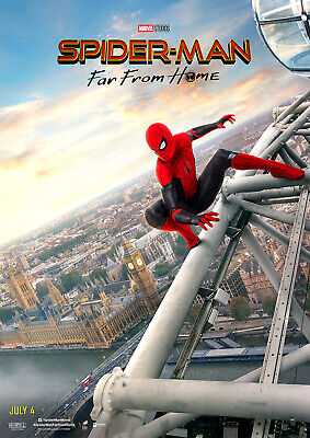 SPIDERMAN Poster, Marvel NEW 2019 Far From Home Movie FREE P+P, CHOOSE YOUR SIZE