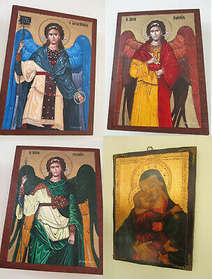 Original Byzantine Icon  Marily Xaga GABRIEL, RAPHAEL MICHAEL ARCHANGEL PICK1