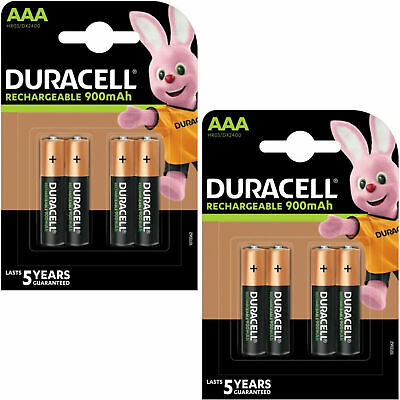Duracell Ultra AAA Rechargeable Batteries 900mAh NiMH PreCharged