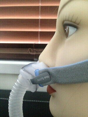 Resmed Airfit P10 nasal CPAP mask std/ her with headgear pillows for sleep apnea