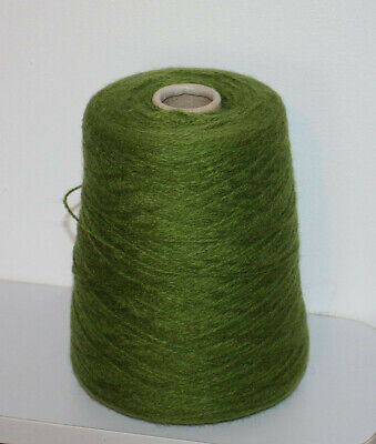 1 Cone Hand or Machine Knitting Green Lemon Grass Total weight 310g