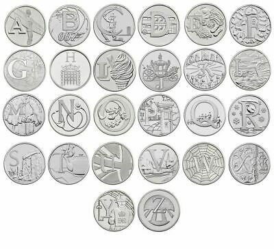 A-Z Alphabet 10p Piece - Ten Pence Coins Collection - 2018 & 2019,S,G,C,W,N