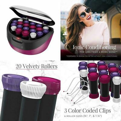 Hair Setter 20 Ceramic Rollers Set Ionic Instant Heat Curlers Hot Hairstyle Clip