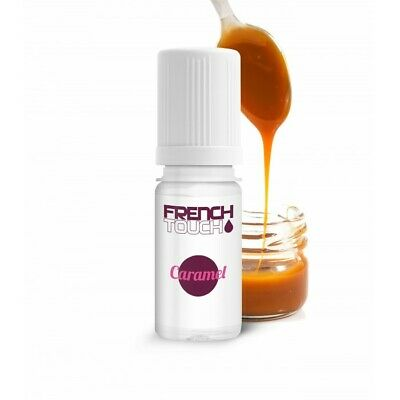 LOT de 10 E-LIQUIDE FrenchTouch-CARAMEL-10ml-6mg-ELIQUIDE-MADE in FRANCE