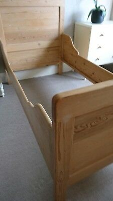 pine single sleigh bed