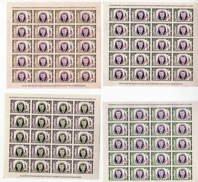 Guinea # 325-7 + C56 Kennedy Imperforate Stamp Sheets Rare