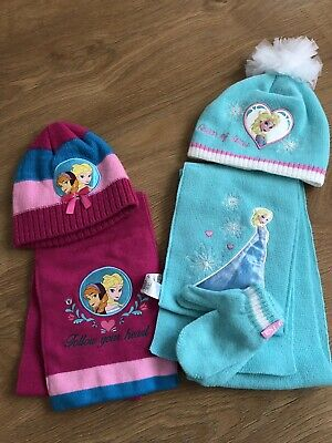 Girls frozen hat, scarf & mittens set from George at asda age 1-3 years