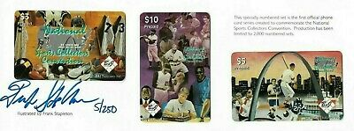 (3) VTG 1990's Collectible National Sports Convention Prepaid Phone Card Auto