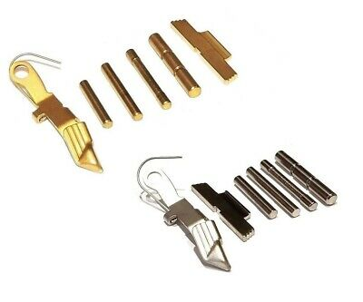 GOLD TIN EXTENDED Controls With Rod And Three Pins For GLOCK