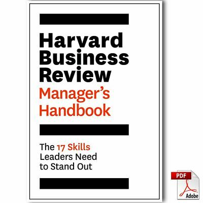 Harvard Business Review Manager's Handbook: The 17 Skills Leaders Need ... [PDF]