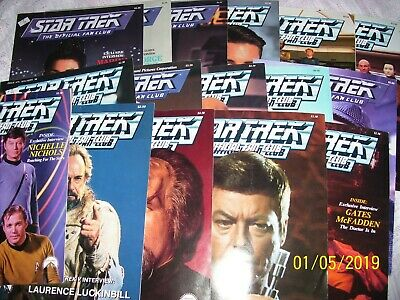 Lot Of 16 Star Trek, The Official Fan Club Magazine / Booklet / Reading Material