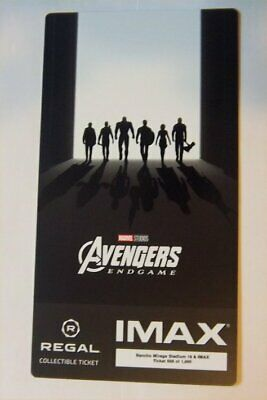 AVENGERS ENDGAME Collectible Ticket Movie Card