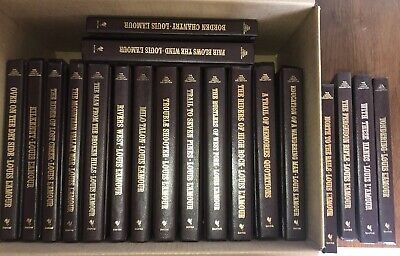 Louis L'Amour Collection Leatherette Complete Set 122 Books Rowdy Rides Frontier