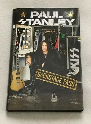 "Autographed/Signed Paul Stanley (Kiss) ""Backstage Pass"" Hardcover Book"