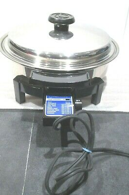 LIFETIME Cookware Stainless Electric SKILLET Custom Designed #37906