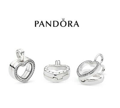 19ebbbba8 New Authentic Sparkling Pandora Heart Floating Locket Cz Pendant Charm  797248Cz