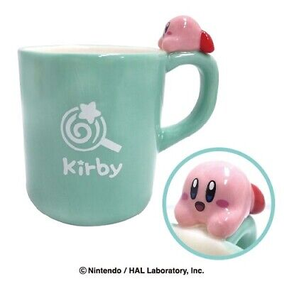 Kirby of the Stars Mug Cup Lie face down. version Green Nintendo Kawaii Gift