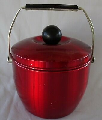 Funky Retro RED ANODISED Ice Bucket