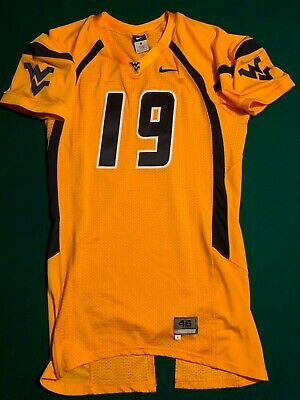 bc04cffe WVU West Virginia Mountaineers Game Issued / Worn NIKE 46 Jersey #19 Circa  2012
