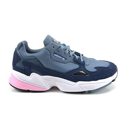 ADIDAS FALCON WOMENS Retro Sneaker Multi Color Blue Grey