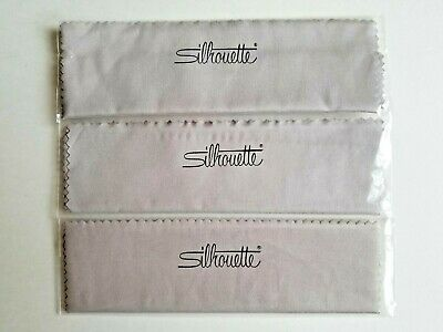 3 - New GENUINE SILHOUETTE Designer Microfiber Eyeglass/Sunglass Cleaning Cloths