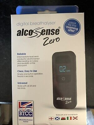 Alcosense Zero Digital Breathalyser. New, Boxed
