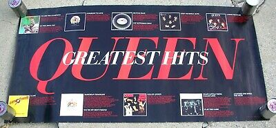 QUEEN Greatest Hits Large Catalog Promo Poster Mint- 1981 ORIGINAL! Nice...