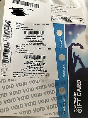 Mumford and Sons tickets x2 June 2nd Echo Arena Liverpool