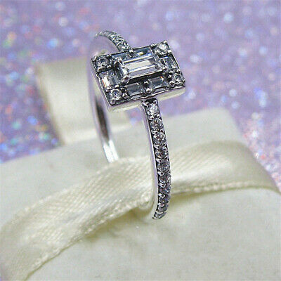 135172d55 Authentic 100% 925 Sterling Silver Luminous Ice Bling CZ Stackable Ring All  Size