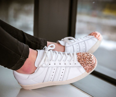 new arrival e2591 09770 ADIDAS  Superstar  80 s Metal Toe White Shattered Mirror Rose Gold, ...