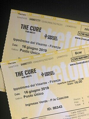 2 Biglietti Posto Unico - The Cure @ Firenze Rocks 16/06/2019