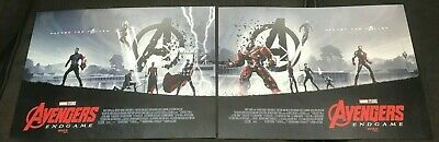 Exclusive Avengers Endgame AMC IMAX mini poster set of 2 posters. RARE!!!