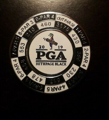 2019 PGA CHAMPIONSHIP Yardage Coin Removable Golf Ball Marker BETHPAGE BLACK