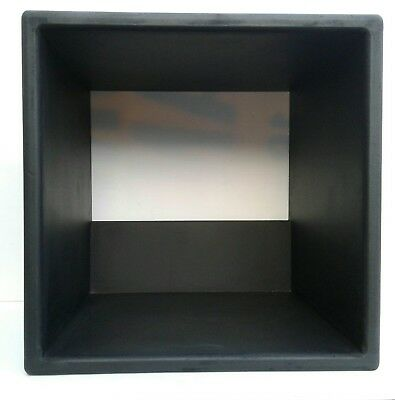 "12"" Vinyl Record Storage Cube  Matt Black"