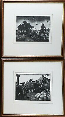 The Farmers Year. 2 Wood Engravings by Clare Leighton RE, published Collins 1933