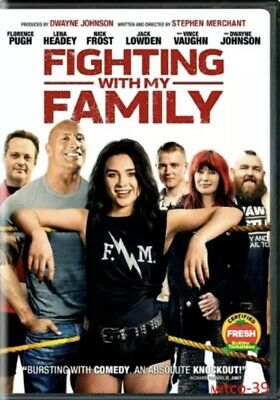 Fighting with My Family DVD 2019 Comedy Drama W/The Rock Free Fast Shipping 🚀